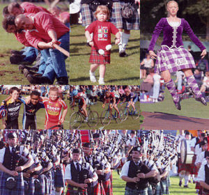 Pitlochry Highland games montage